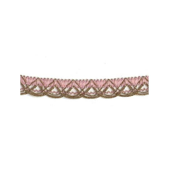 Old Store Stock Gold and Light Pink Extra Fancy Looped Trim ~ Vintage
