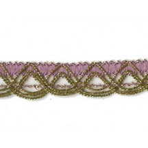 Old Store Stock Gold and Lavendar Purple Extra Fancy Looped Trim ~ Vintage