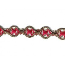 Old Store Stock Gold and Red Extra Cross Trim ~ Vintage
