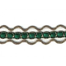 Old Store Stock Gold and Green Extra Fancy Trim ~ Vintage