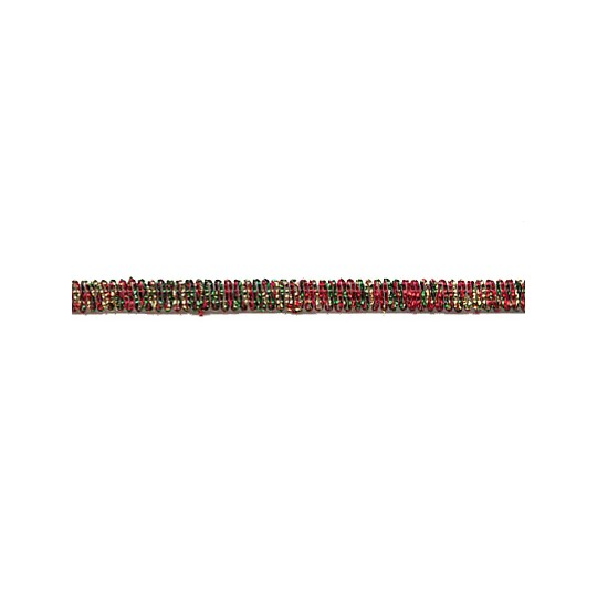 Old Store Stock Red, Gold + Green Metalic Trim ~ Vintage