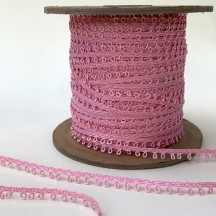 "Petite Fancy Picot Edge Trim in Pink ~ 3/16"" wide"