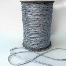 "Petite Fancy Loop Edge Trim in Metallic Silver ~ 1/8"" wide"