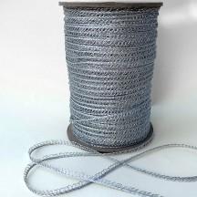 """Petite Fancy Loop Edge Trim in Metallic Silver ~ 1/8"""" wide"""