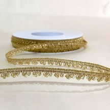 "Fancy Metallic Looped Fringe in Bright Gold ~ 3/8"" wide ~ Germany"