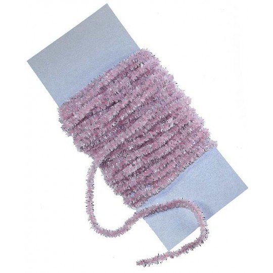 Pale Pink & Silver Chenille Sparkle Cording ~ 5 yards