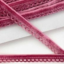 "Soft Velvet Openwork Ribbon Trim in Antique Rose Pink ~ 7/16"" wide"