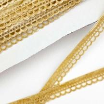 """Soft Velvet Openwork Ribbon Trim in Light Tan ~ 7/16"""" wide"""