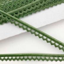 "Soft Velvet Openwork Ribbon Trim in Soft Green ~ 7/16"" wide"