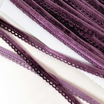 "Soft Velvet Openwork Ribbon Trim in Deep Violet Purple ~ 7/16"" wide"