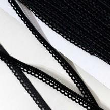 "Soft Velvet Openwork Ribbon Trim in Black ~ 7/16"" wide"