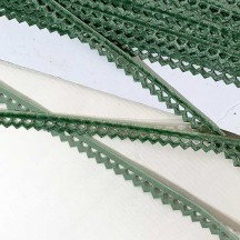 "Soft Velvet Openwork Ribbon Trim in Soft Green ~ 7/16"" wide"
