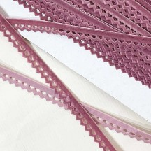"Soft Velvet Openwork Ribbon Trim in Dusty Rose Pink ~ 7/16"" wide"