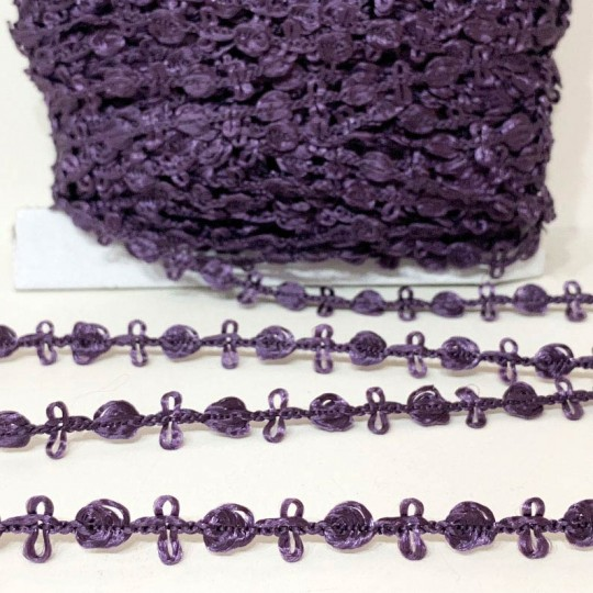 Old Store Stock Rosebud Trim in All Eggplant Purple