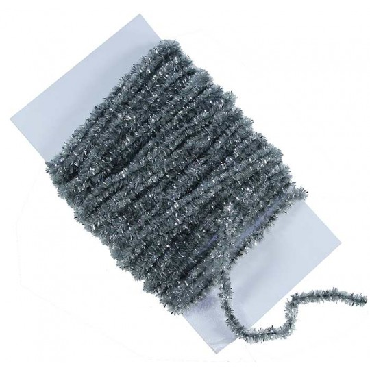Silver Chenille Sparkle Cording ~ 5 yards