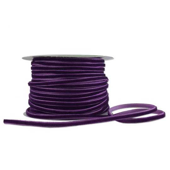 """Tiny Velvet Ribbon Trim in Grape Purple ~ 1/8"""" wide"""