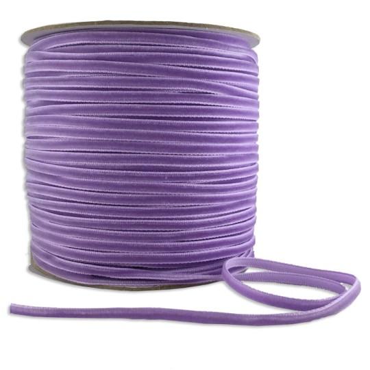 """Tiny Velvet Ribbon Trim in Lavender ~ 1/8"""" wide"""