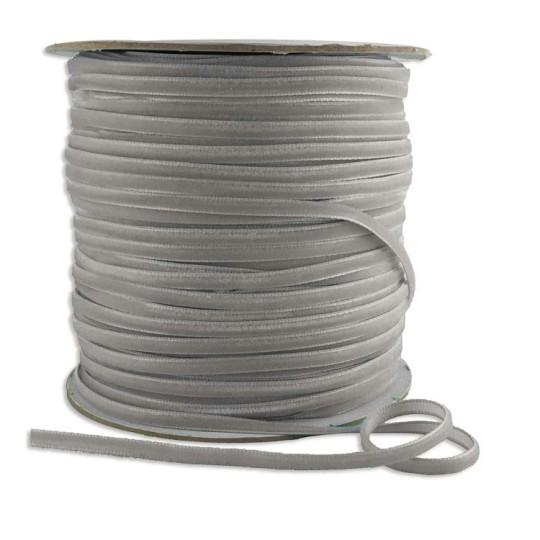 """Tiny Velvet Ribbon Trim in Light Grey ~ 1/8"""" wide"""