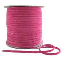 "Tiny Velvet Ribbon Trim in Medium Pink ~ 1/8"" wide"