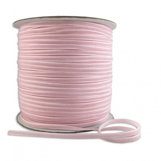 "Tiny Velvet Ribbon Trim in Pale Pink ~ 1/8"" wide"