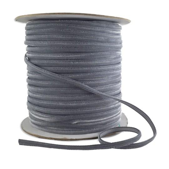 "Tiny Velvet Ribbon Trim in Pewter Grey ~ 1/8"" wide"