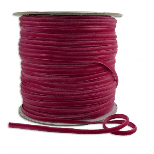 "Tiny Velvet Ribbon Trim in Raspberry ~ 1/8"" wide"