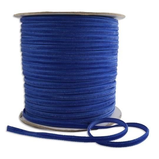 """Tiny Velvet Ribbon Trim in Royal Blue ~ 1/8"""" wide"""