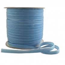 "Soft Velvet Ribbon Trim in Light Blue ~ 1/4"" wide"