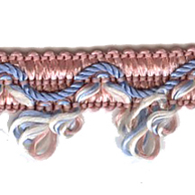 Elegant Pink, Blue and Ivory Woven Braid ~ Vintage Old Store Stock