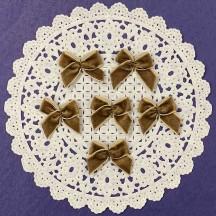 Small Vintage Velvet Bows ~ Set of 6 ~ CHESTNUT BROWN