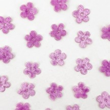 Mini Die-cut Velvet Forget Me Not Flowers ~ Set of 48 ~ LIGHT PURPLE