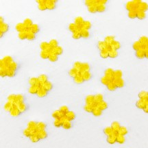 Mini Die-cut Velvet Forget Me Not Flowers ~ Set of 48 ~ YELLOW