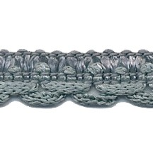 Elegant Sage Blue Double Scallop Woven Braid ~ Vintage Old Store Stock