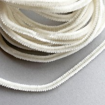 Soft 8mm Wired Chenille Cording in Antique White ~ 1 yd.