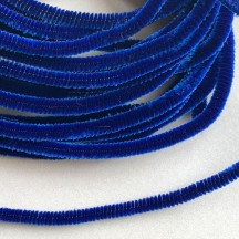 Soft 8mm Wired Chenille Cording in Cobalt Blue ~ 1 yd.