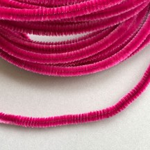 Soft 8mm Wired Chenille Cording in Fuchsia Pink ~ 1 yd.