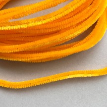 Soft 8mm Wired Chenille Cording in Golden Yellow ~ 1 yd.