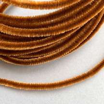 Soft 8mm Wired Chenille Cording in Light Brown ~ 1 yd.