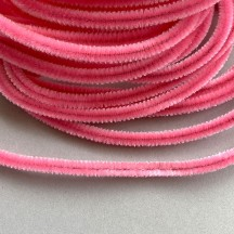 Soft 8mm Wired Chenille Cording in Light Pink ~ 1 yd.