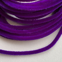 Soft 8mm Wired Chenille Cording in Violet Purple ~ 1 yd.