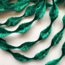 "2-1/2"" Bump Chenille in Emerald Green ~ 1 yd."