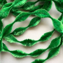 "2-1/2"" Bump Chenille in Green ~ 1 yd."