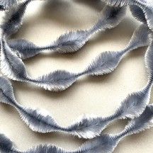 "2-1/2"" Bump Chenille in Light Grey ~ 1 yd."