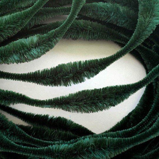 "Large 5"" Bump Chenille in Forest Green ~ 1 yd."