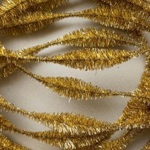 "Large 5"" Bump Chenille in Metallic Gold Tinsel ~ 1 yd."