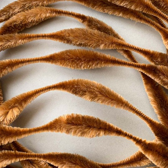 "Large 5"" Bump Chenille in Light Brown ~ 1 yd."