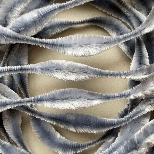 "Large 5"" Bump Chenille in Light Grey ~ 1 yd."