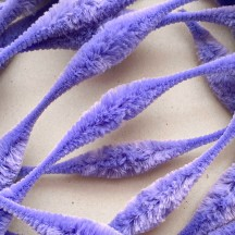 "Large 5"" Bump Chenille in Lavender Purple ~ 1 yd."