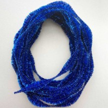 "Large 5"" Bump Chenille in Metallic Blue Tinsel ~ BULK ~ 10 Meter Garland Length"