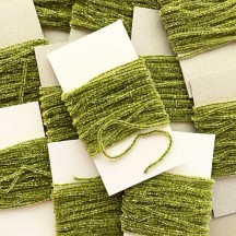 "Celery Green & Silver Chenille Sparkle Cording ~ 5 yards ~ Tiny 1/8"" wide"